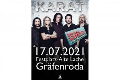 """KARAT kommt! 17.07.21 - Festplatz """"Alte Lache"""" OT Gräfenroda"""