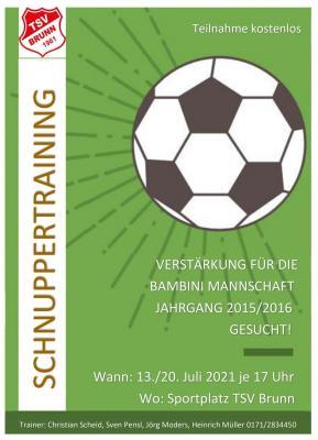 Fußball-Schnuppertraining für Bambinis