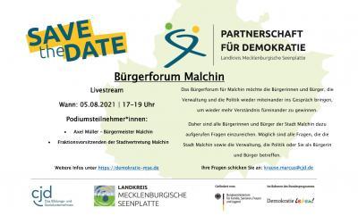 Save the Date – Bürgerforum Malchin