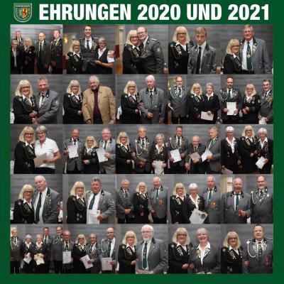 Die Ehrungen bei der JHV 2020 und 2021