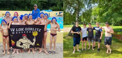 Foto zur Meldung: Wasserball U12 & U14 in Auerbach, Männer in Burkau