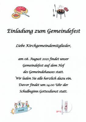 Foto zu Meldung: Gemeindefest 2021