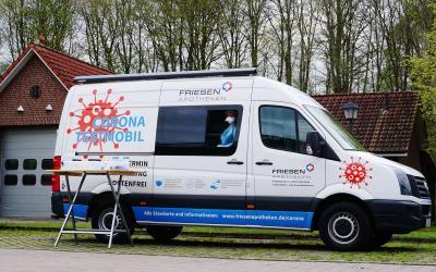 Das Corona-Testmobil machte an jedem Dienstag Station in Schmalensee