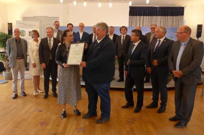 Feierliche Übergabe des Zertifikats zur Anerkennung des Nationalen Geoparks Thüringen Inselsberg – Drei Gleichen als UNESCO Global Geopark