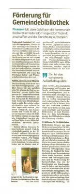 Foto zur Meldung: Gemeindebibliothek Fredersdorf freut sich über Fördergeld