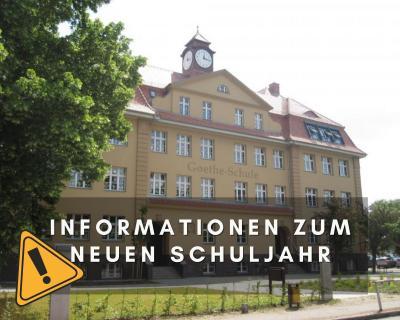 Foto zur Meldung: Informationen zum neuen Schuljahr