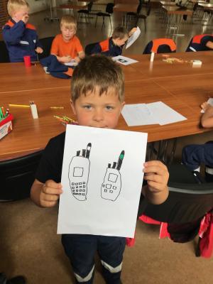 Foto zur Meldung: Funk bei der Kinderfeuerwehr