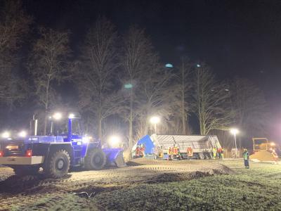 Foto zur Meldung: LKW-Bergung in Rettenbach