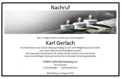 Nachruf Karl Gerlach