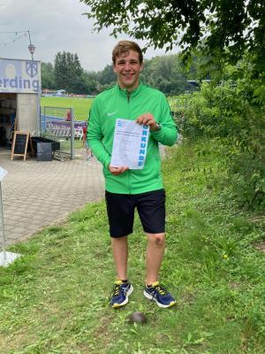Foto zur Meldung: Johannes Zierer bei den bayerischen Meisterschaften