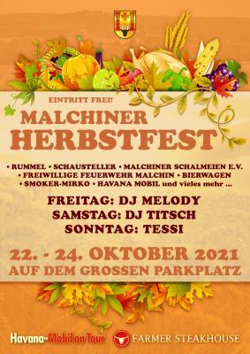 Malchiner Herbstfest vom 22.-24. Oktober 2021