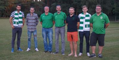 v.L. Martin Wernicke, Grady Hammett, Jens Bornfleth, Reyk Schulz, Marian Zobel, Kevin Kracheel und Lukas Hainke