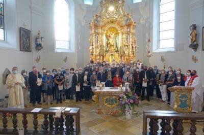 Gottesdienst der Ehejubiläen für die Pfarreiengemeinschaft Moosbach-Prackenbach-Krailing in St. Georg Prackenbach am 11.09.2021
