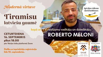 """Vorschaubild der Meldung: """"Tiramisu latviešu gaumē"""" meistarklase ar Roberto Meloni"""