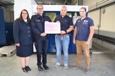 Großzügige Spende der Inoxx Laser GmbH für die Flutopfer