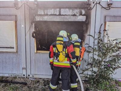 Foto zur Meldung: Brand Asylbewerberunterkunft Vierkirchen