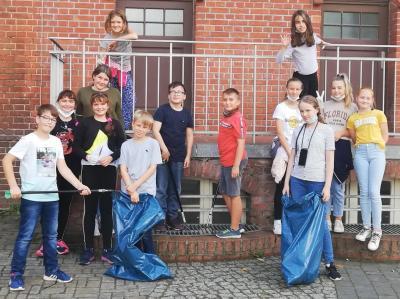 Zero-waste-Workshop und Clean up der 6L am Saldern