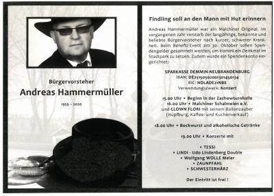 Benefiz-Veranstaltung für verstorbenen Bürgervorsteher Andreas Hammermüller