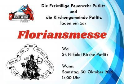 Foto zur Meldung: Einladung zur Floriansmesse am 30.10.2021