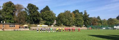 Spielbeginn 1. Mannschaft in Zittau, So., 03.10.2021