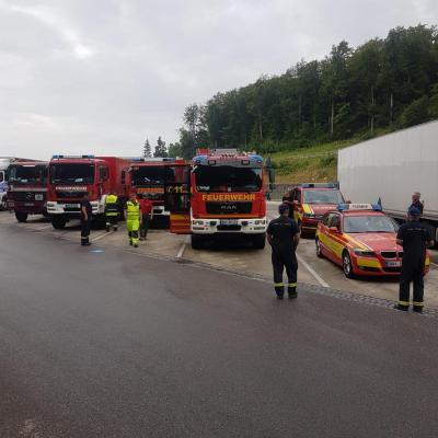 Unterstützung des Hilfskontingentes im Rahmen des Hochwassers Nordrhein-Westfalen