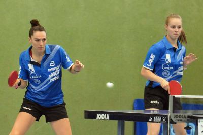 Die Doppel gaben gegen den ASC Göttingen den Ausschlag. Dijana Holokova und Sofia Stefanska vom TTK Großburgwedel