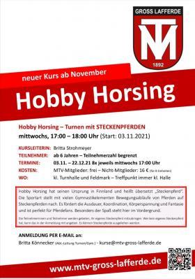 Hobby Horsing - neuer Kurs ab November