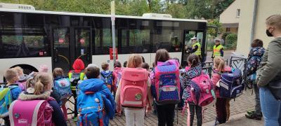 Busschule der ErstklässlerInnen