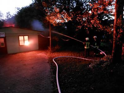 Feuerwehreinsatz am FC Sportlerheim
