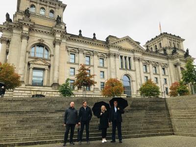 v.l.n.r. Bürgermeister Axel Müller, Bürgermeister Marc Lies, Erste Stadträtin Manuela Rißer und Bürgermeister Nyiri