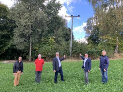 Erdverkabelung einer 20 kv-Freileitung aufgrund der Errichtung des Waldkindergartens in Oberpolling