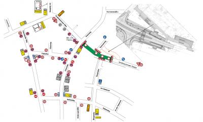 Foto zur Meldung: Baustelle Großmachnower Allee/Straße: Umleitungen ab 25. Oktober