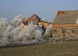 Gutshof im Winter