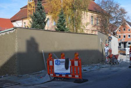 Östliche Mauer - verputzt