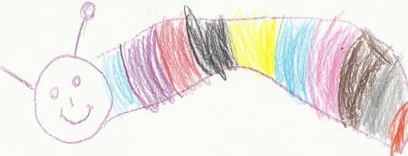 Bücherwürmer gemalt von Chesny
