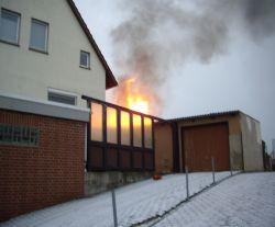 Schuppenbrand in Barksen 2