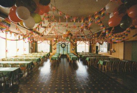 1981 - Schützenhof Speiel - geschmückter Saal für Winterball