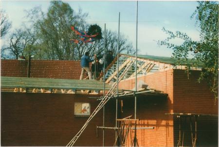 1991 Erweiterung Feuerwehrgerätehaus Richtfest