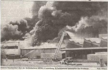 1992 06 24 Großbrand MEWA Werkhalle