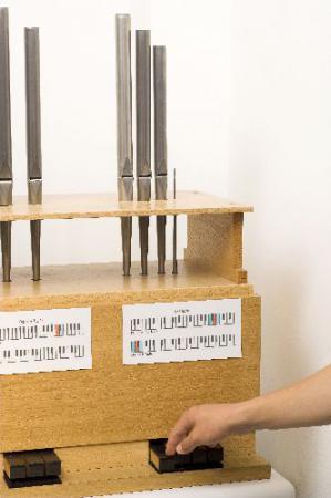 Orgel mit kleinster gebräuchlicher Pfeife