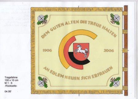2006 - Entwurf der neuen Fahne - Rückseite