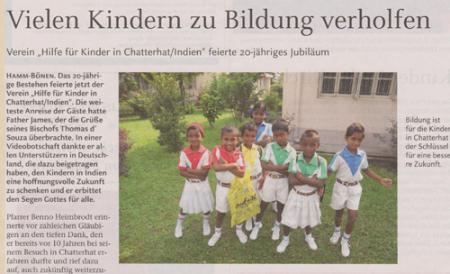 Vielen Kindern zu Bildung verholfen