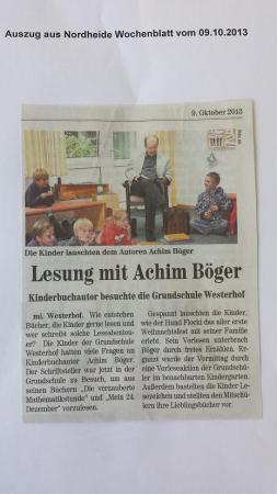 Lesung mit Achim Bröger