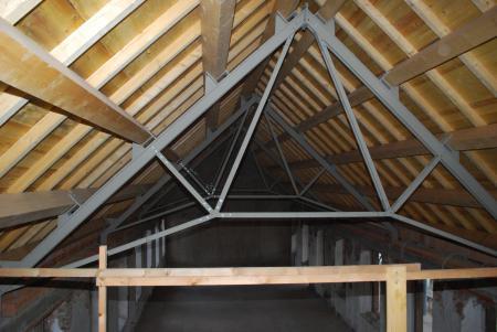 Westflügel Dachkonstruktion