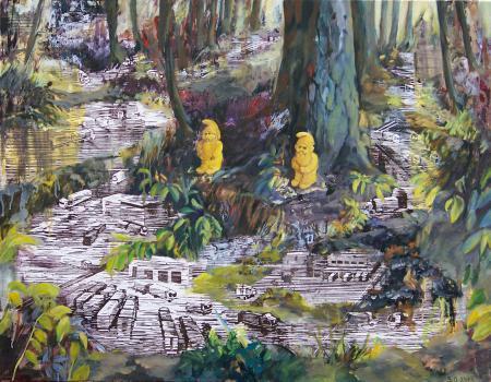 Goldene Zeiten, 2013, 85 x 110cm Linoldruck u.jpg