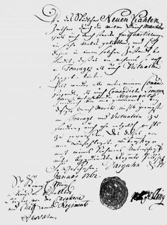 Schreiben des Oberstleutnant Belling vom 17.1.1762