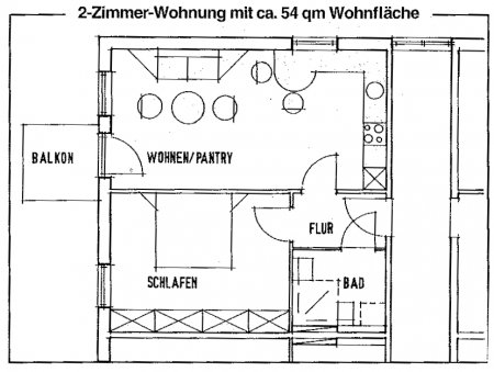 2 Zimmer Appartment