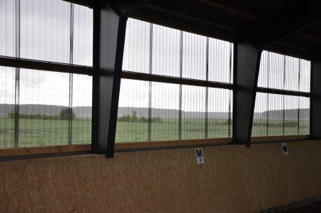 Blick aus der Halle