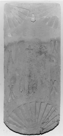 Dachziegel mit der Aufschrift: J. C. Elers Anno 1782