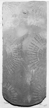 Dachziegel mit der Aufschrift A. F. St. 1835
